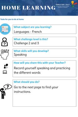 French Speaking Challenge 2&3