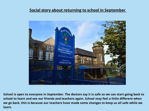 Social story about returning to school