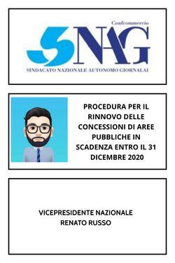 RINNOVO CONCESSIONI SUOLO PUBBLICO - EDICOLE