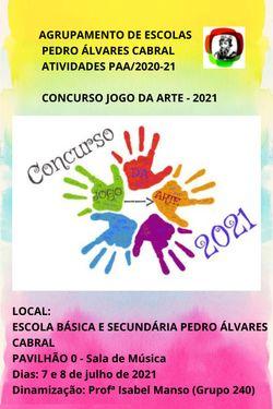 ATIVIDADES PAA - CONCURSO JOGO DA ARTE 2020/21