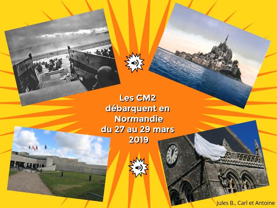 Les CM2 débarquent en Normandie