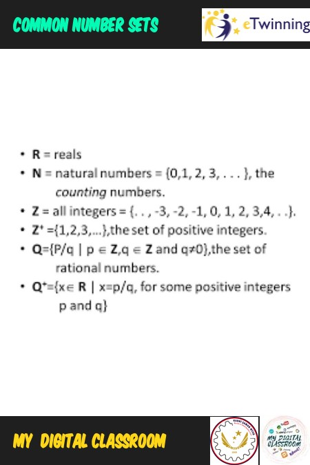 Common number sets