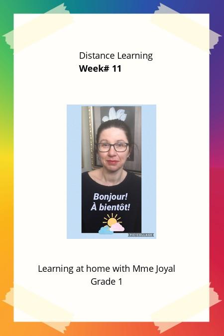 Gr. 1 Distance Learning Week # 11