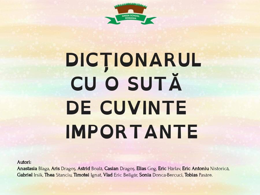 Dicționarul cu o sută de cuvinte importante
