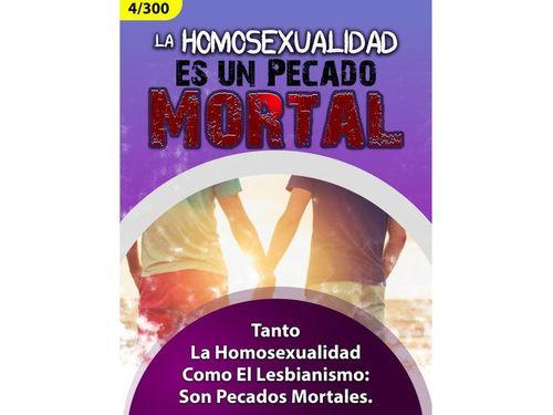 Homosexualidad Pecado mortal