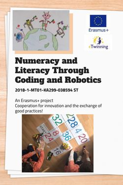 Numeracy and Literacy through Coding and Robotics