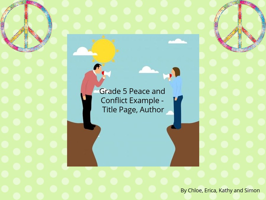 Grade 5 Peace and Conflict Example