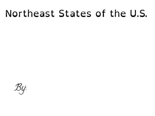 Northeast States of the U.S.