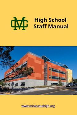 High School Staff Manual