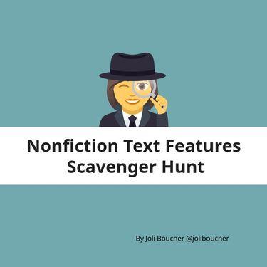 Nonfiction Text Feature Scavenger Hunt