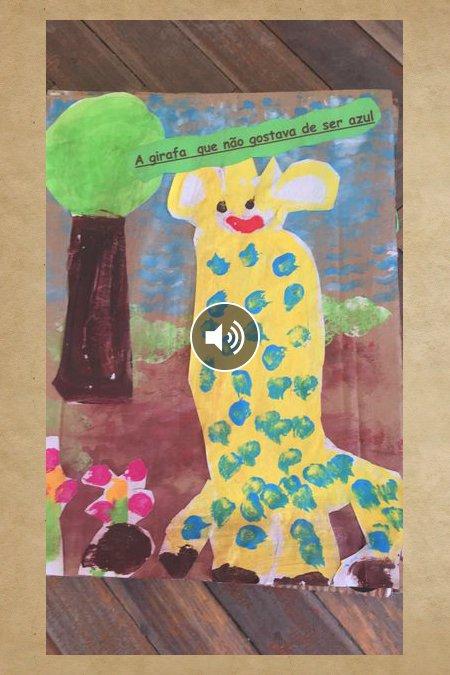 A girafa que não gostava de ser azul
