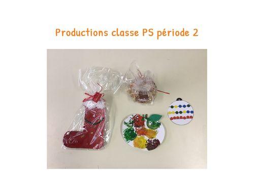 Productions Classe PS Période 2