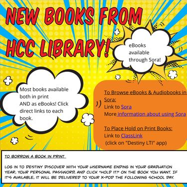 New Books at HCC Library, Sept 2020