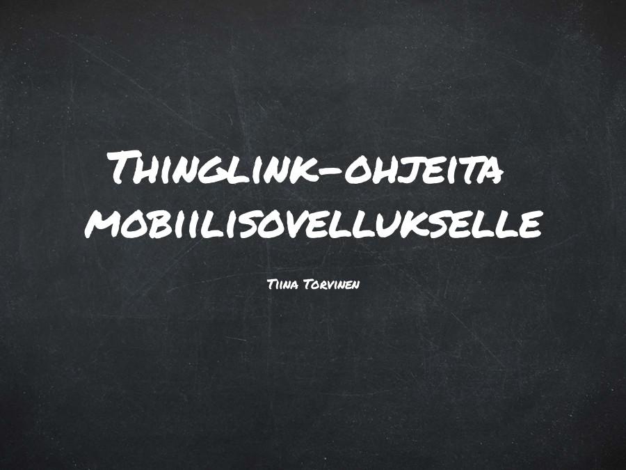 Thinglink-ohjeita