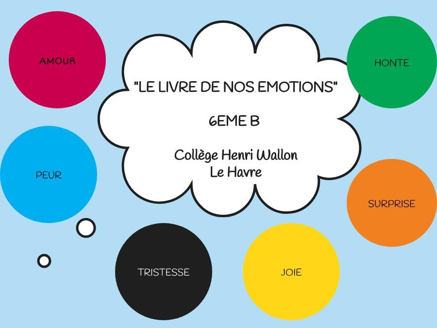 Le livre de nos émotions 6B