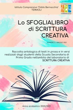 Lo Sfoglialibro di Scrittura Creativa n.2 - I.C. Oddo Bernacchia - Termoli