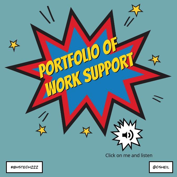 Portfolio of Work Support