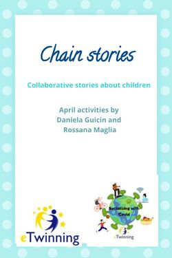 Chain stories - Socializing with Covid
