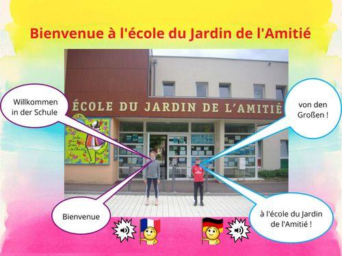 Bienvenue à l'école du Jardin de l'Amitié