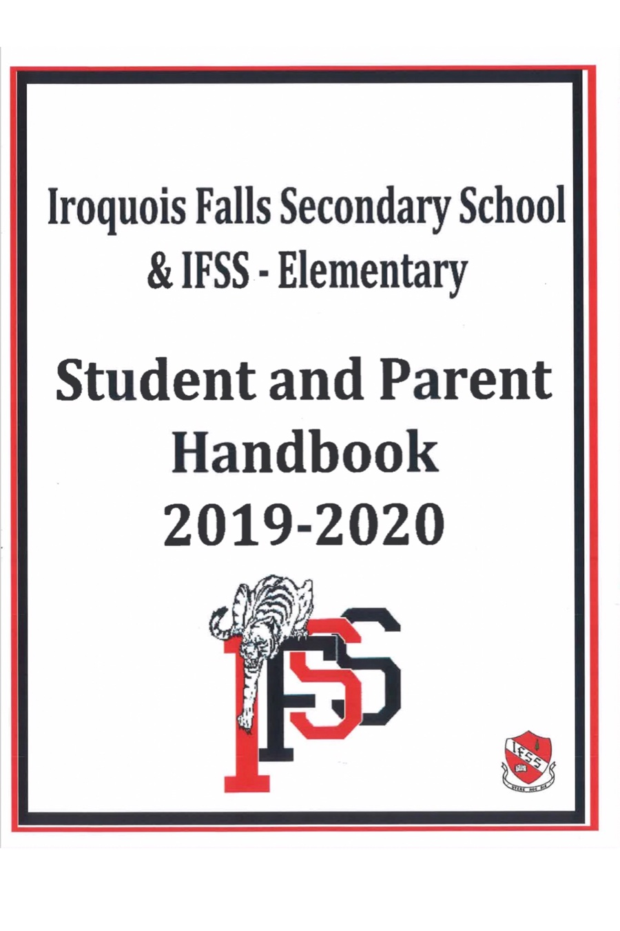 Student and Parent Handbook 2019-2020