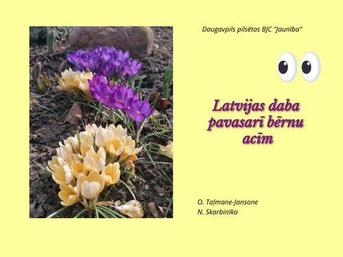 Latvijas daba pavasarī bērnu acīm