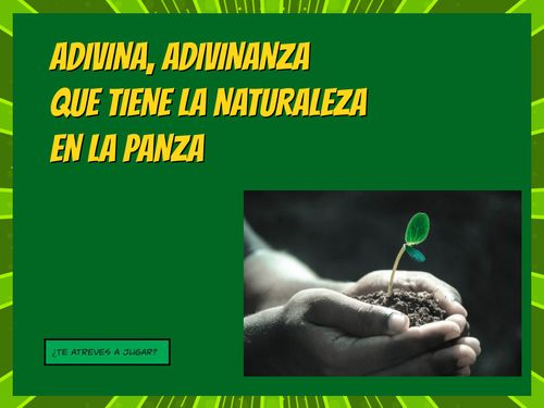 ADIVINANZAS DE LAS PLANTAS