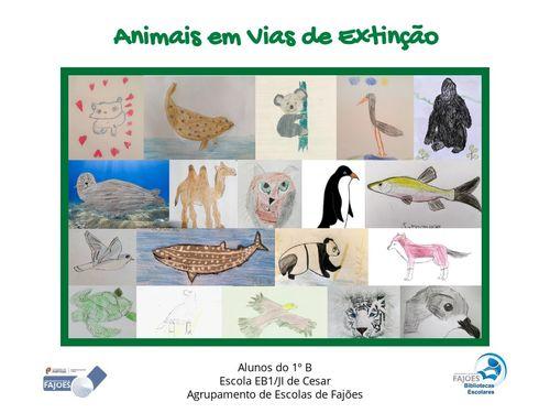 Animais em Vias de Extinção 1ºB