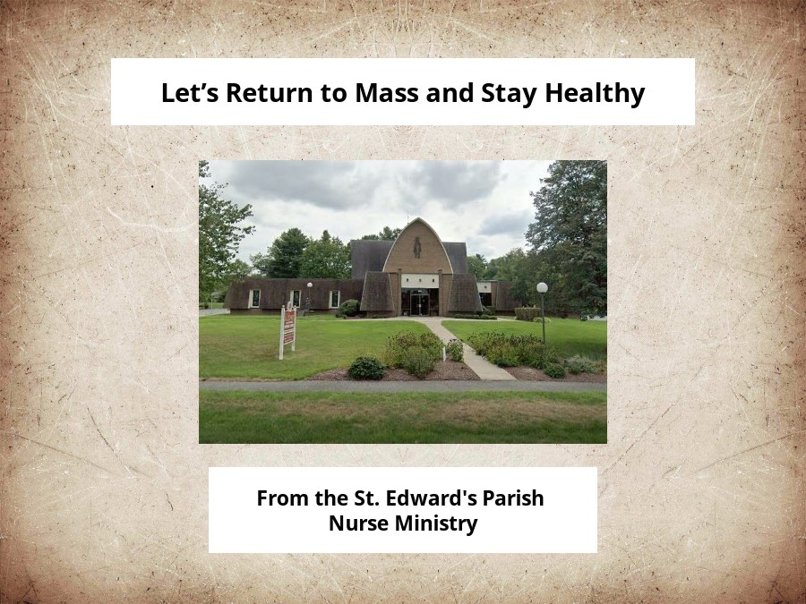 Let's Return to Mass and Stay Healthy
