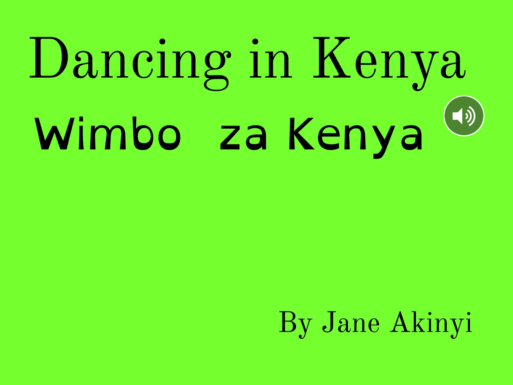 Dancing In Kenya
