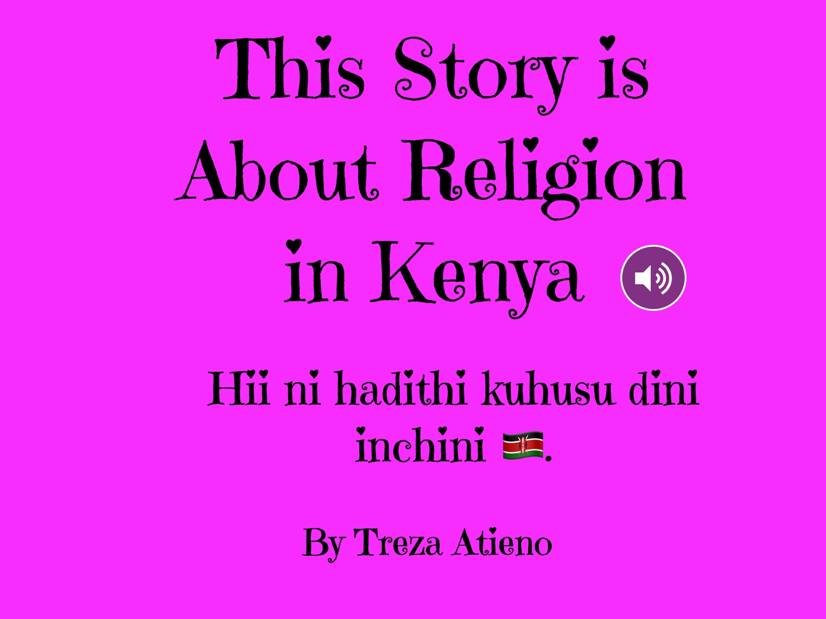 This Story Is About Religion In Kenya