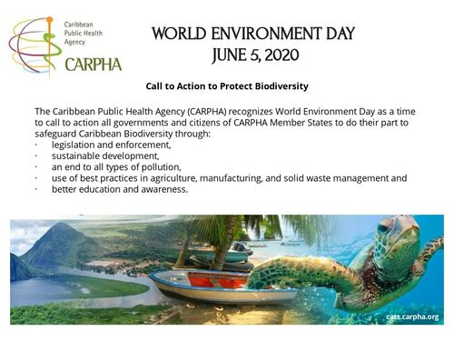 CARPHA Observes World Environment Day 2020