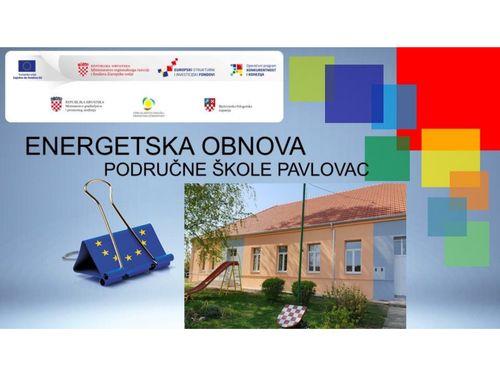 Energetska obnova PŠ Pavlovac