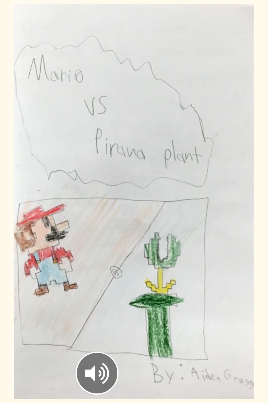 Mario vs. Pirana Plant
