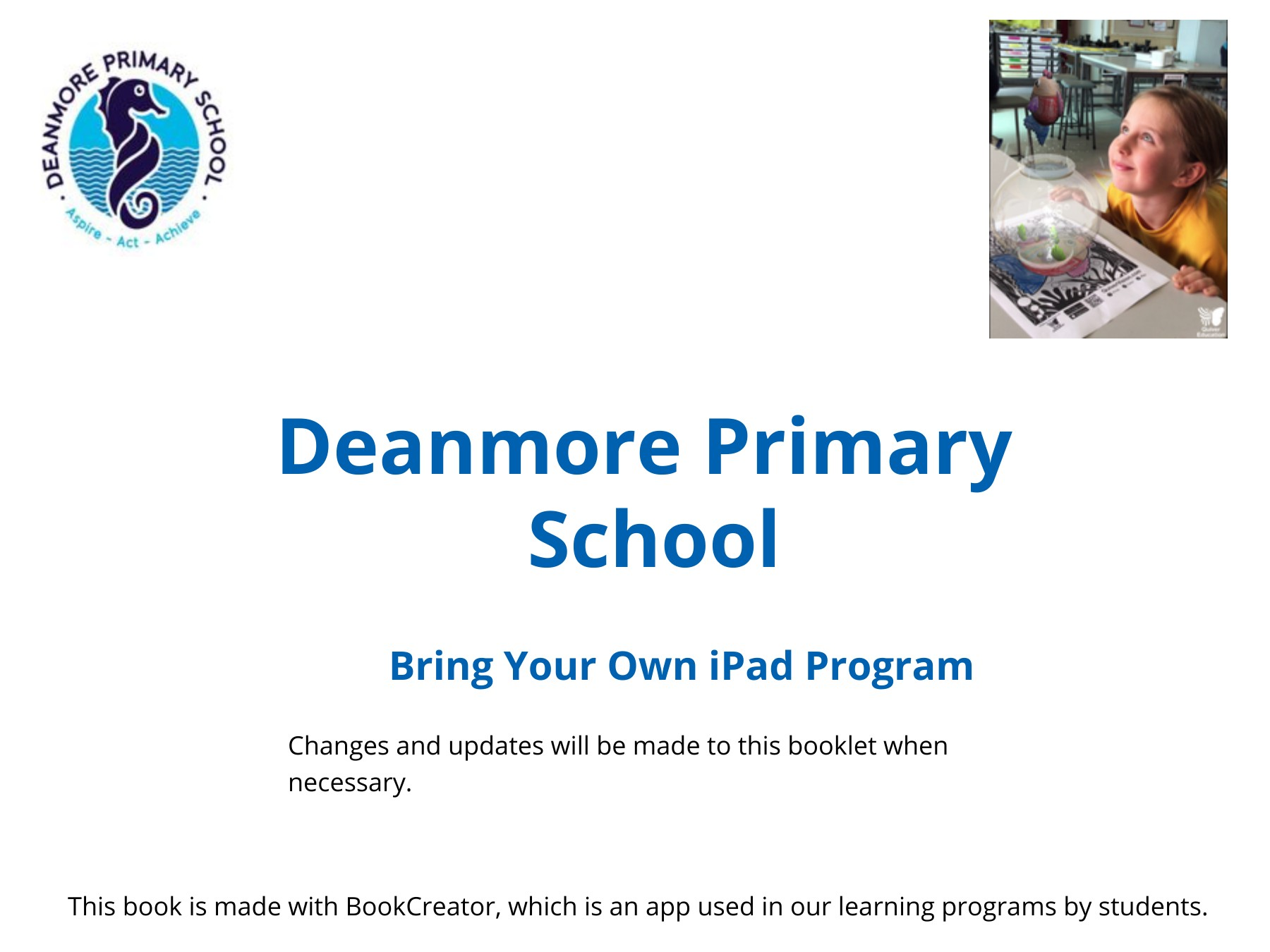 Deanmore Primary School - Family Funded iPad