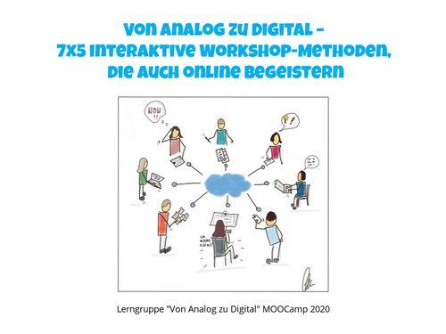 Von Analog zu Digital - 7x5 interaktive Workshop-Methoden, die auch online begeistern