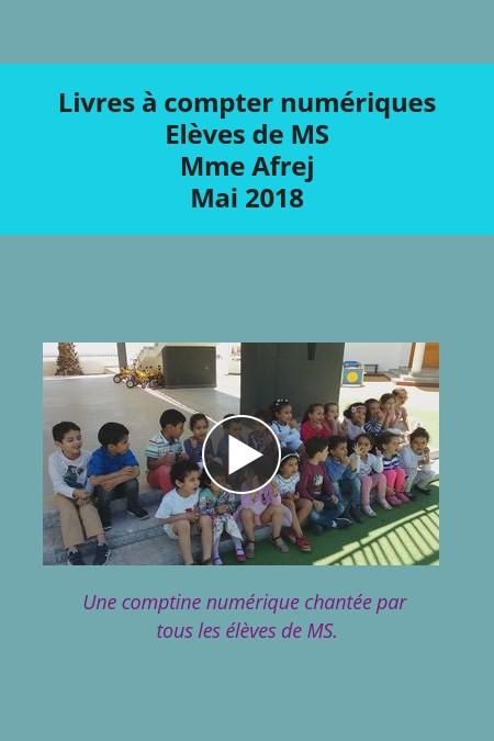 Livres à compter Classe de MS de Mme Afrej