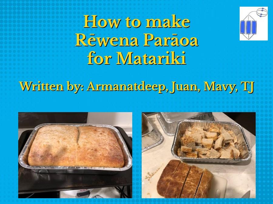 Kahikatea -Making Rewena bread for Matariki