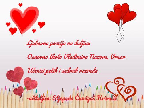 Ljubavna poezija na daljinu