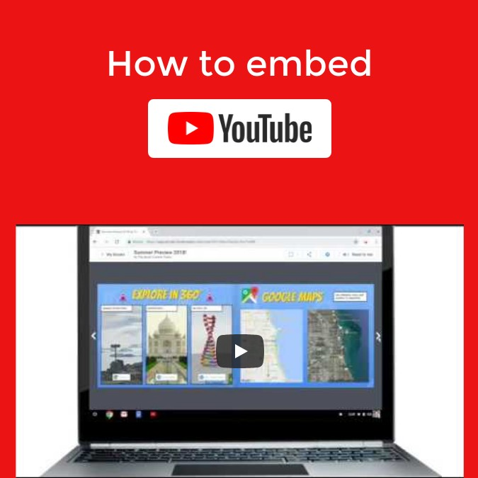 How to embed YouTube in Book Creator