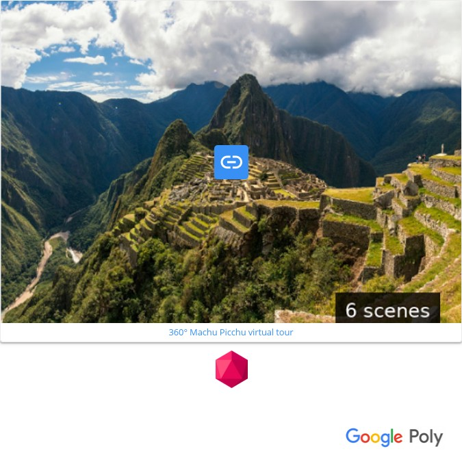 Embedding Google Poly 3D tours in Book Creator