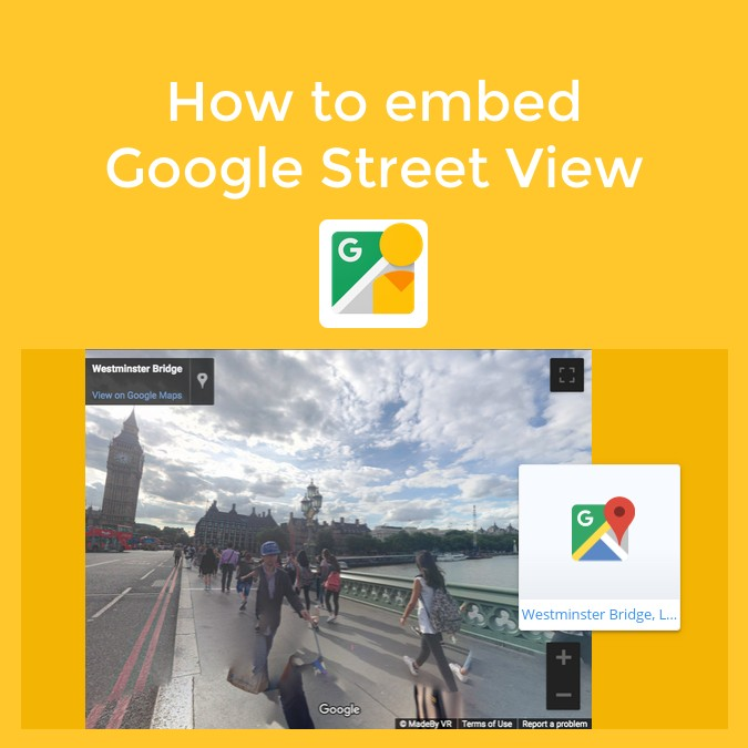 How to embed Google Street View in Book Creator