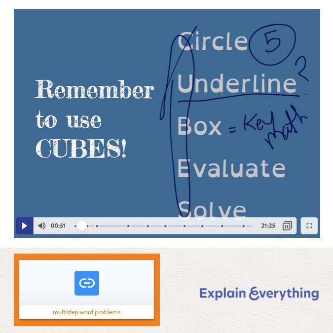 Explain Everything embedded in Book Creator