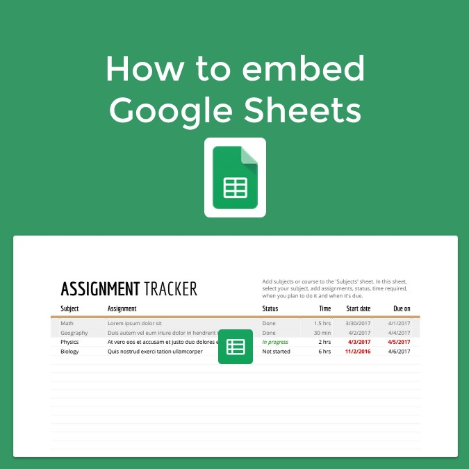 How to embed Google Sheets in Book Creator
