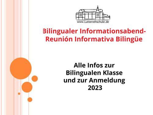 Bilingualer Informationsabend