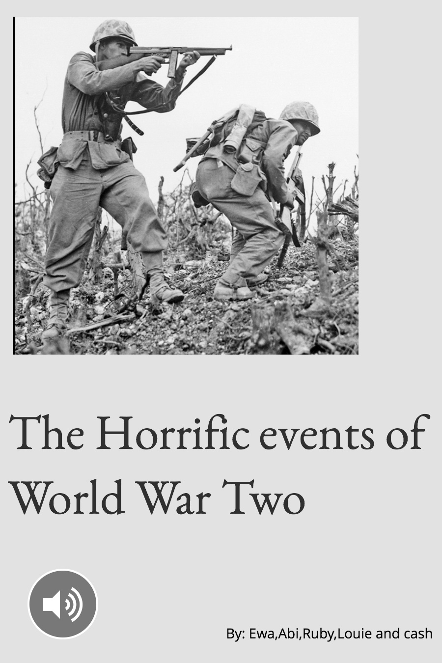 The Horrific Events Of World War II