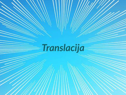 Translacija (8.c)