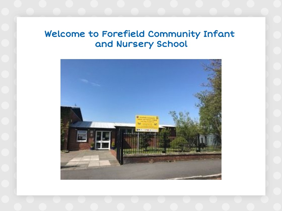 Welcome to Forefield Reception Classes