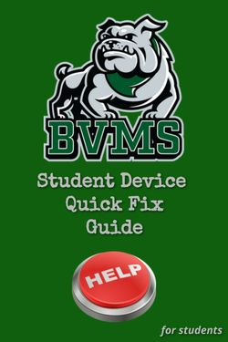 BVMS Student Device Quick Fix Guide