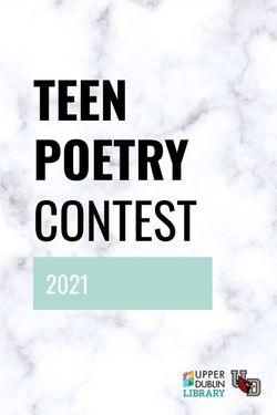 Teen Poetry Contest 2021