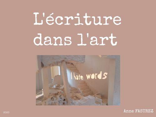 L'écriture dans l'art